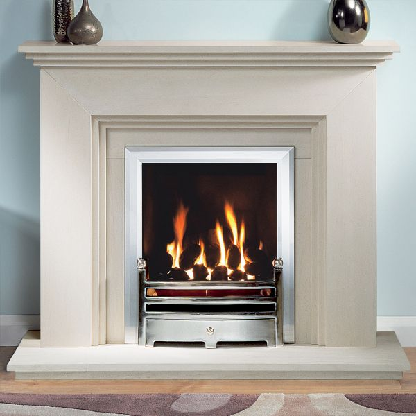 Gallery Cranbourne Portuguese Limestone Fireplace Suite