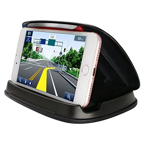 Universal Cell Phone Holder for Car, NonSlip Dashboard GPS Mounts in Vehicle for iPhone Samsung LG Nexus Motorola Garmin Nuvi TomTom and other 3-6.8 Inch Smartphones and GPS Navigation System - Black. For product info go to:  https://www.caraccessoriesonlinemarket.com/universal-cell-phone-holder-for-car-nonslip-dashboard-gps-mounts-in-vehicle-for-iphone-samsung-lg-nexus-motorola-garmin-nuvi-tomtom-and-other-3-6-8-inch-smartphones-and-gps-navigation-system-black/