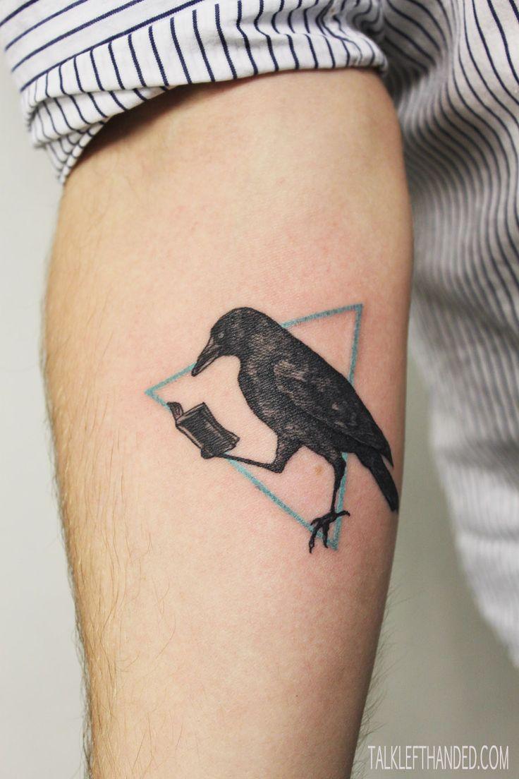 crow tattoo / perfeita para Poe lovers =D