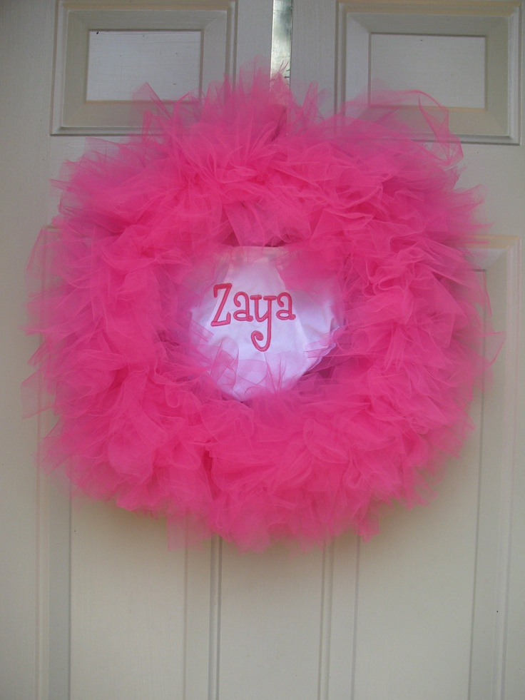 9 migliori immagini cool wreaths to make su pinterest for Baby boy hospital door decoration
