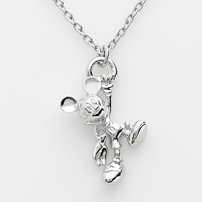 Disney Mickey Mouse Silver Tone 3-D Pendant