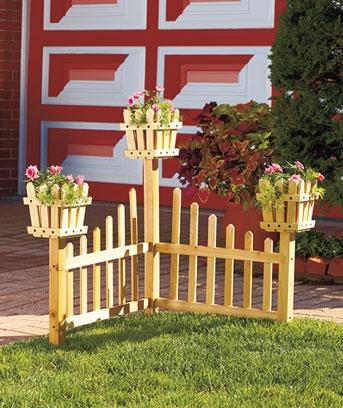 Corner Planter Fences