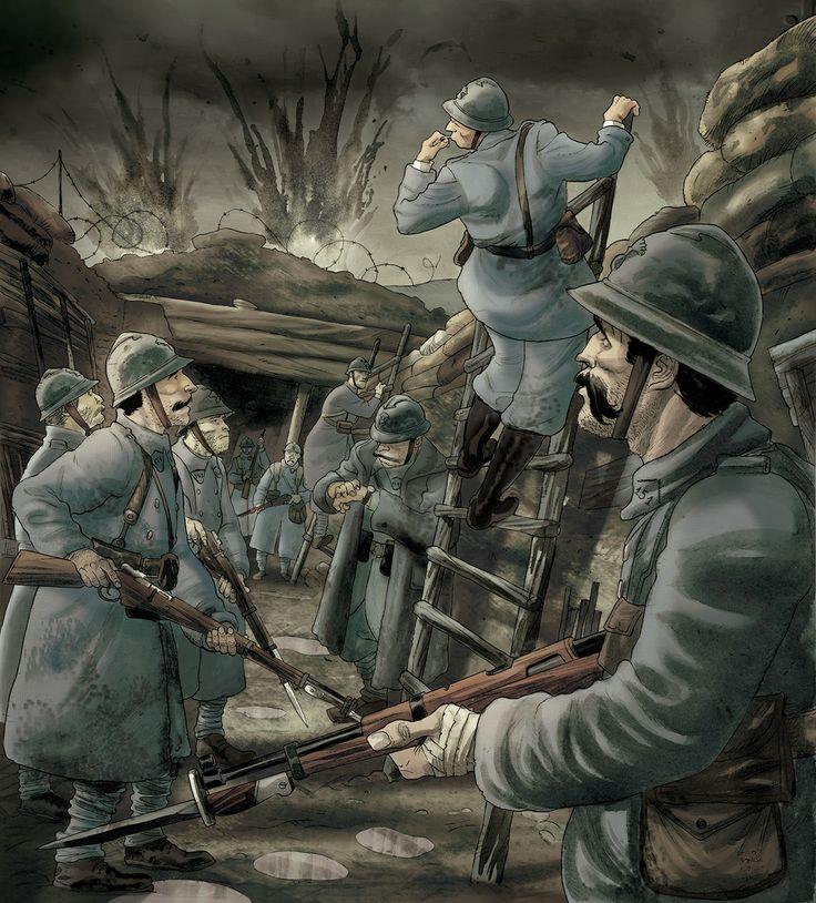 Grafika z pudełka do gry Piekło Okopów autor ilustracji: Lelio Bonaccorso