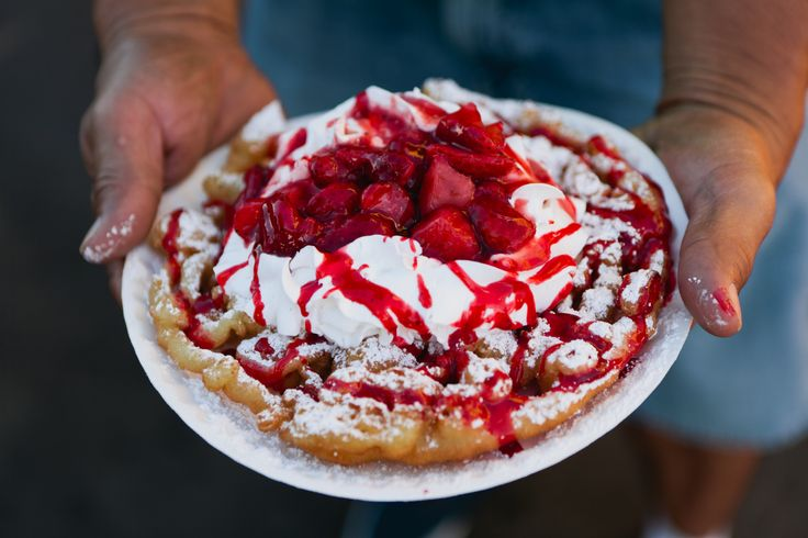 Funnel cake amazingness at the Los Angeles County Fair