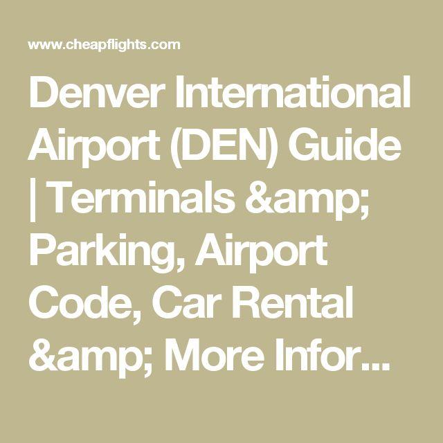 Denver Rental Car Mar