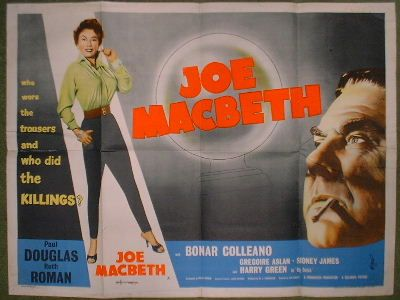 joe macbeth film | You are bidding for an original UK quad (30x40) film poster in poor ...