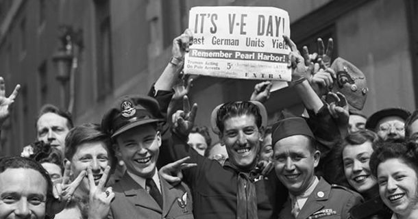 On this day in 1945, both Great Britain and the United States celebrated Victory in Europe Day, generally known as V-E Day. That was the day Germany officially surrendered, ending the European po ...
