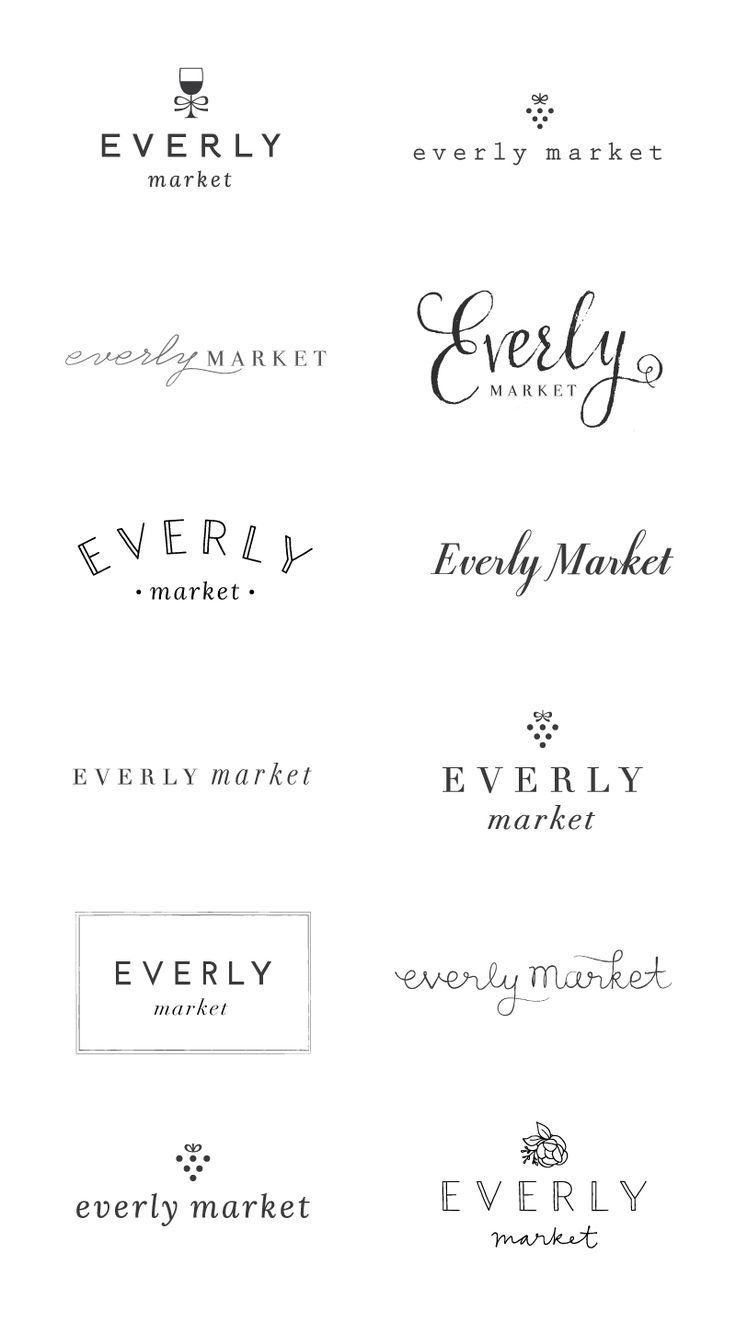 WIP: Everly Market Logo Options