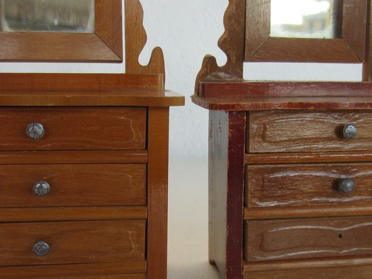 Two Schneegass dressers with swivel mirror - close up