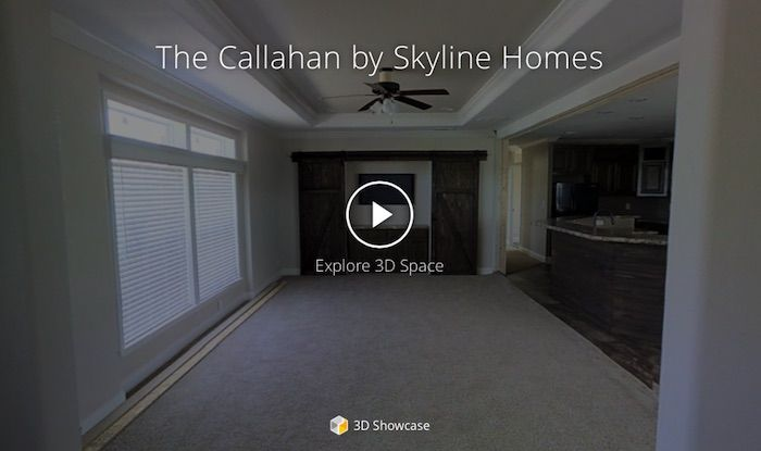 Take the 3D Virtual Tour of the Skyline Homes Chaparrel model 5668 – The Callahan - produced at the Mansfield, Texas home building facility.