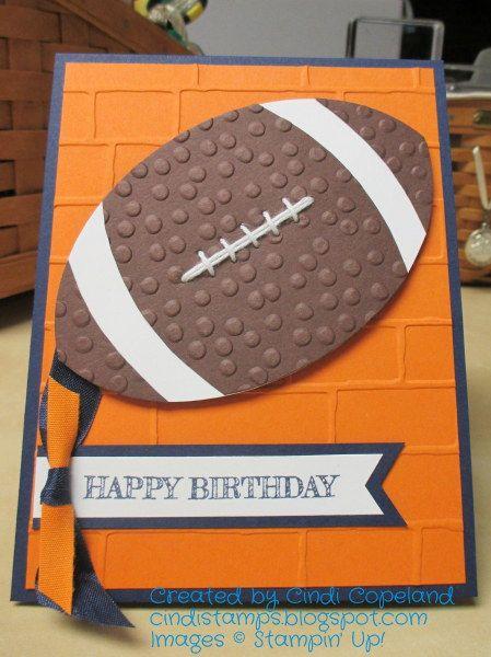 Football birthday card