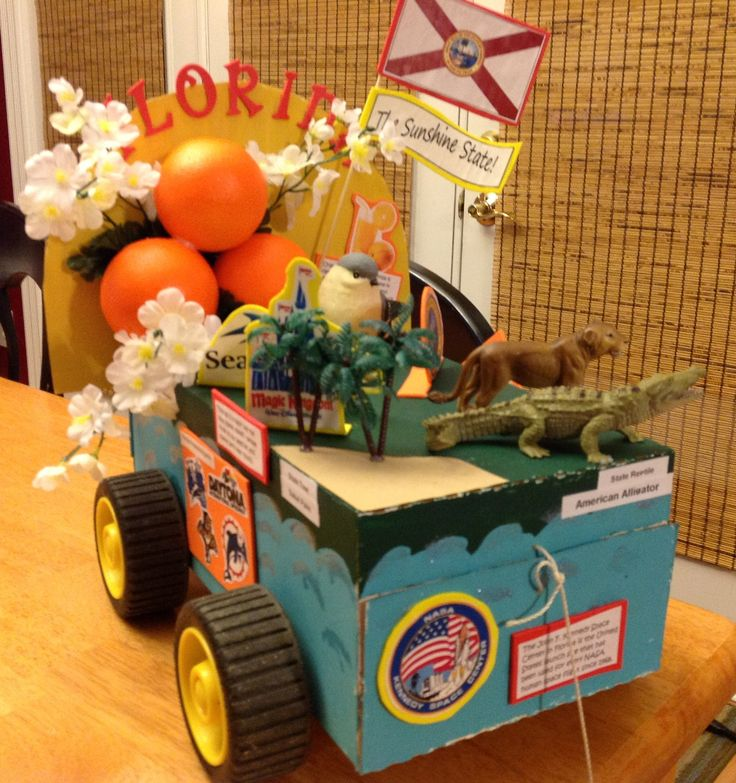 Bree's Shoebox Float - State of Florida - 50 States 5th Grade Social Studies Project