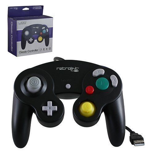 Retro Link GameCube Style USB Wired Controller gamegearbuzz.com/…