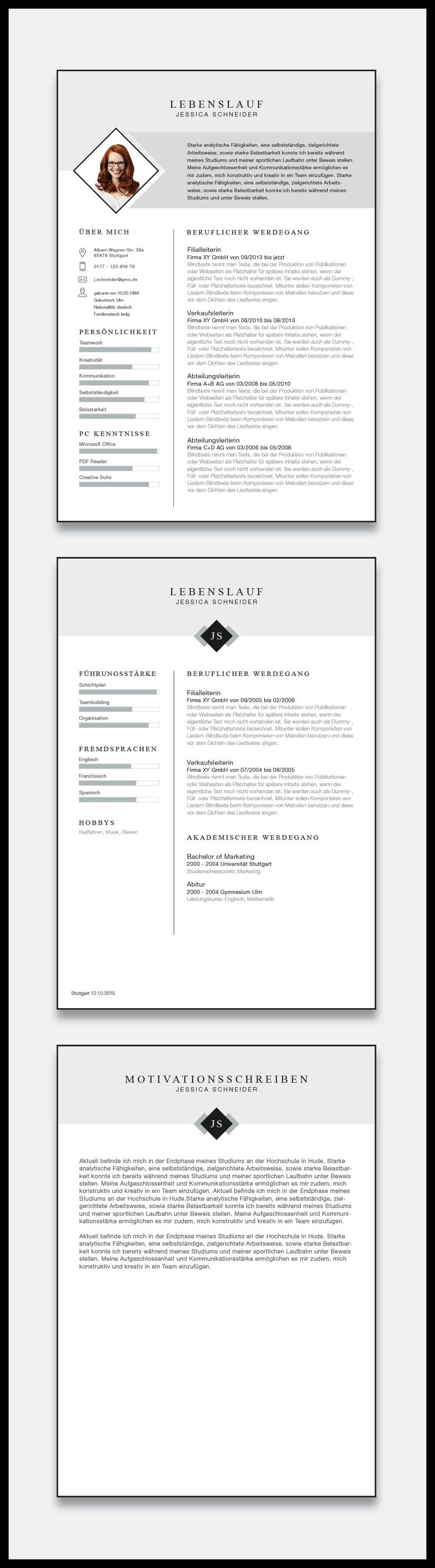 16 best Bewerbung Deckblatt Layout images on Pinterest | Career ...