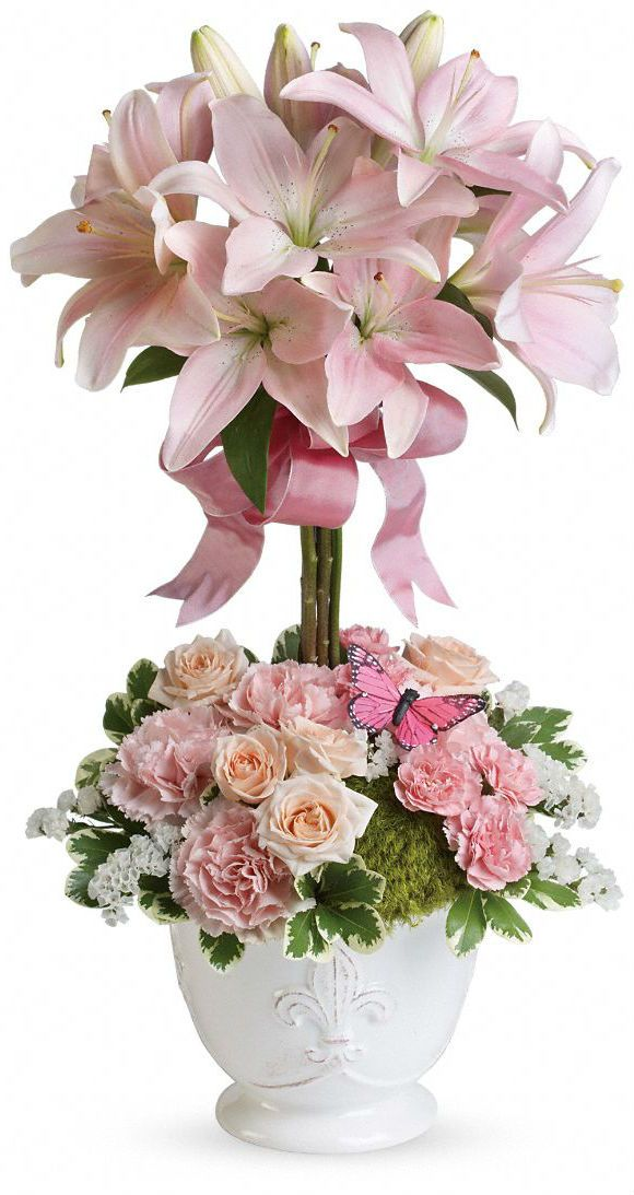 new convection Flower Arrangement   Teleflora's Blushing Lilies - save 15% with our coupon
