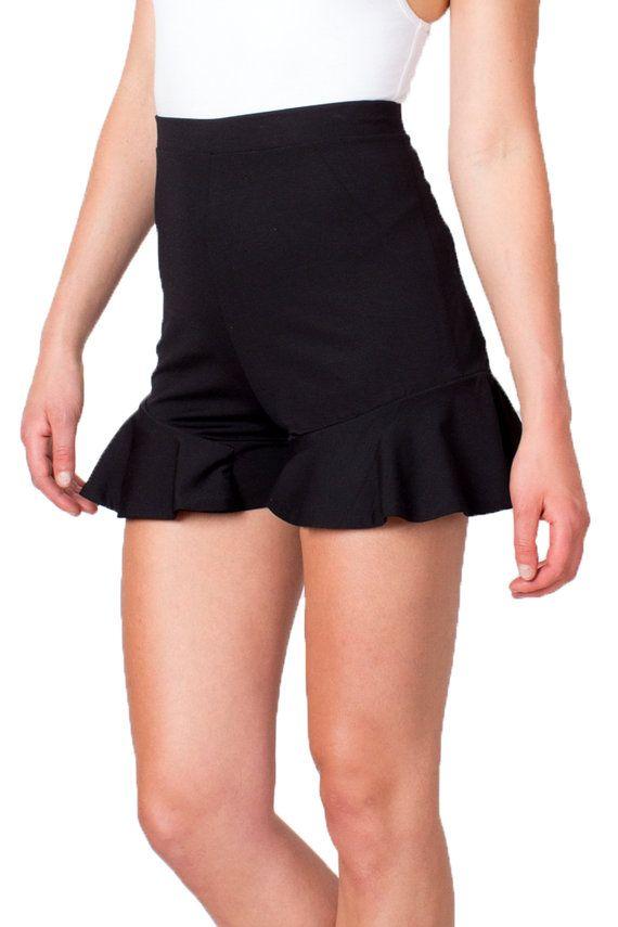 Pantalones cortos negros pantalones cortos pantalones por tetianak