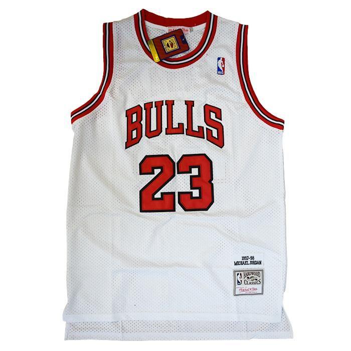 Canotta NBA Retro Vintage - Michael Jordan - Chicago Bulls - Colore Bianco
