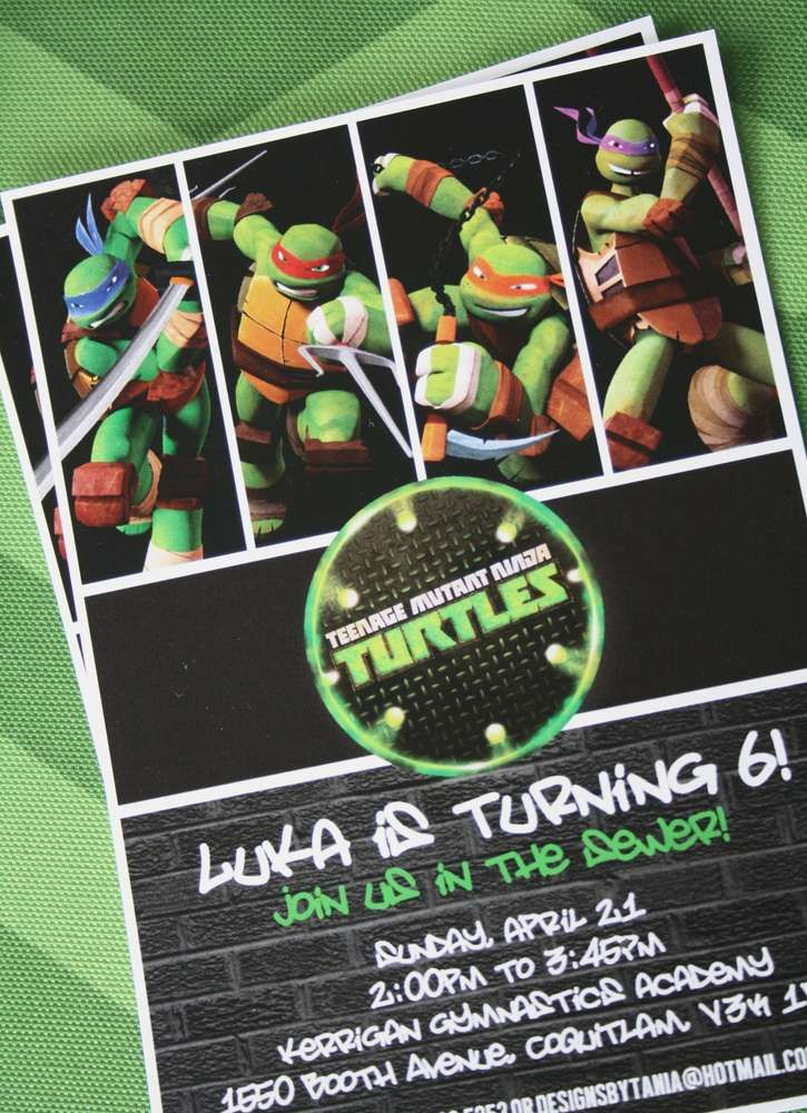 Cowabunga! TMNT in the House!   CatchMyParty.com