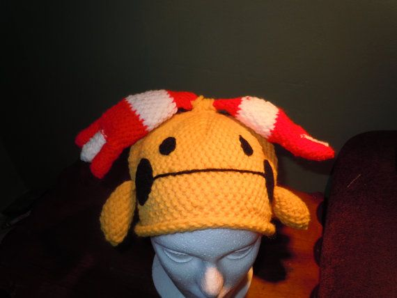 Chingling Pokemon Beanie Hat by heathermakeshats on Etsy, $20.00