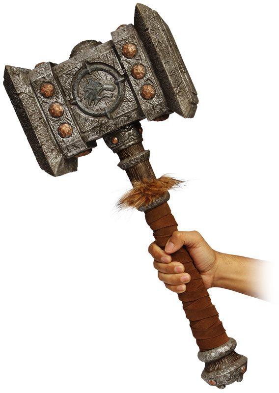 Go to http://wanelo.com/p/5327946/warcraft-blueprint for WOW secrets - World of Warcraft Giant Foam Doomhammer Replica
