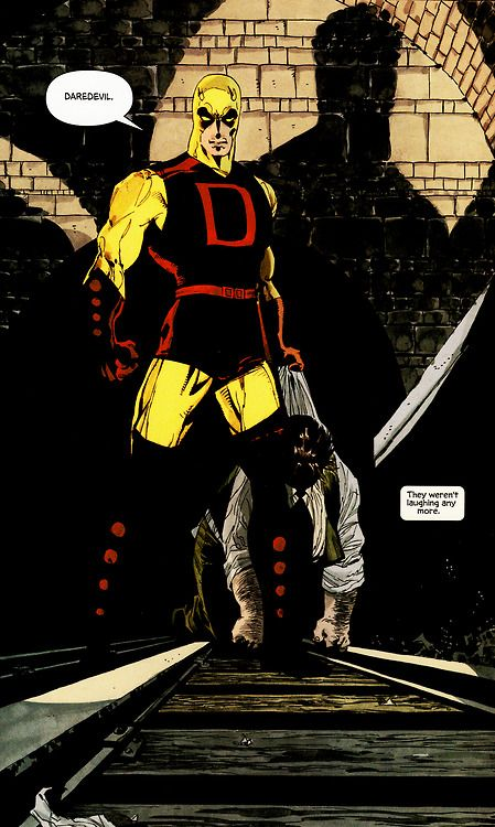 """They weren't laughing any more."" -Tim Sale, Jeph Loeb (Daredevil: Yellow)"