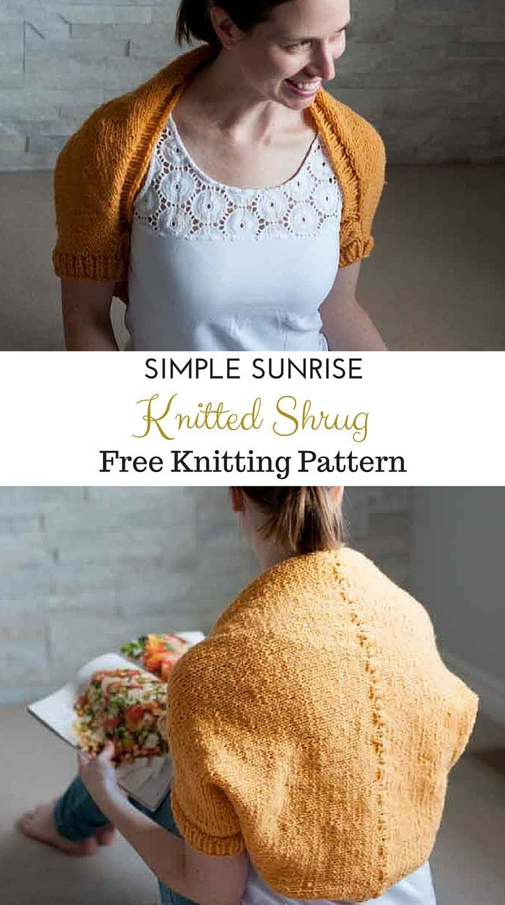 66 best shrug knitting patterns images on pinterest ponchos beautiful and bright simple sunrise shrug free knitting pattern from sustainmycrafthabit this lightweight wool knit bankloansurffo Image collections