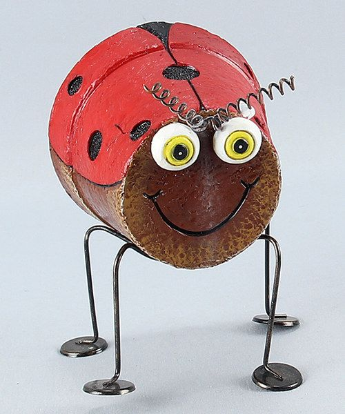 Look at this Lady Bug Flower Pot Garden Figurine on #zulily today!
