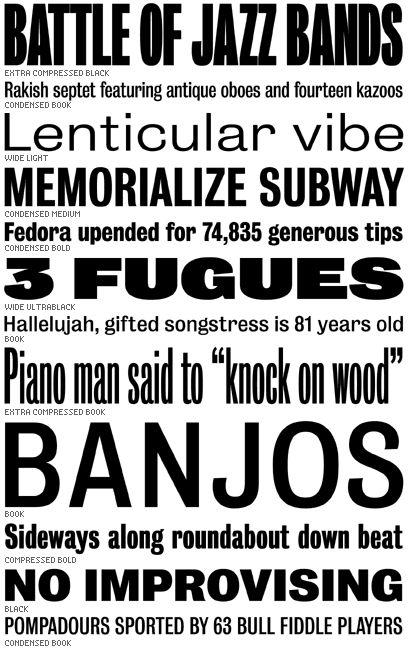 88 best Font Bureau images on Pinterest The font Fonts and