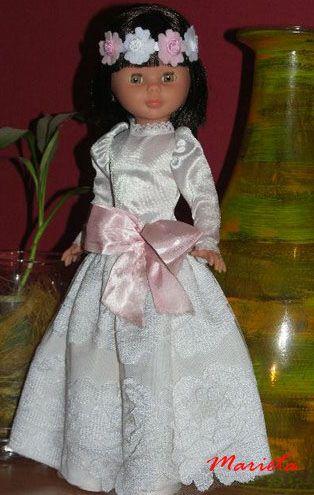 La Muñeca Nancy vestida de novia .Catálogo de 1987. Una Nancy con media melena y flequillo