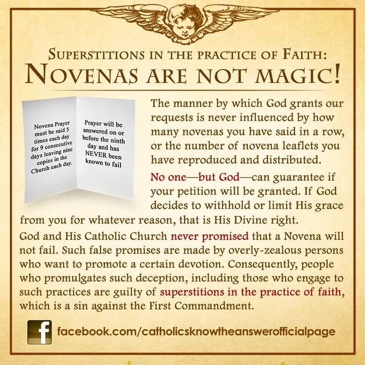 Novenas are to help you meditate on how you can become a better person, not a good luck charm
