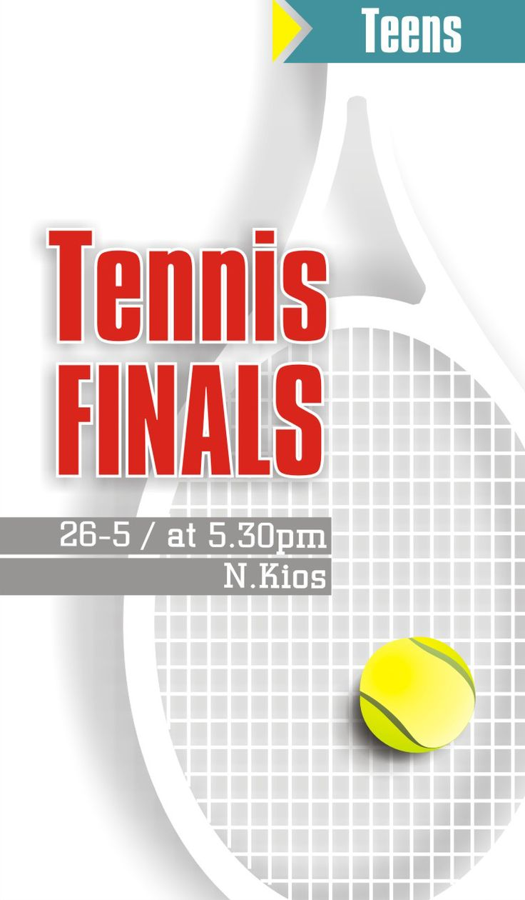 by Argiro Stavrakou, year 2015, poster for Tennis Local games