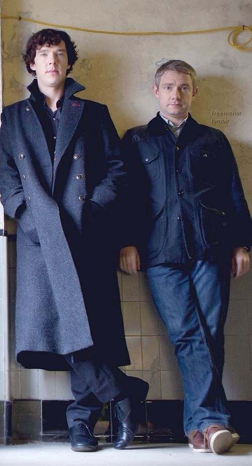 Sherlock Holmes (Benedict Cumberbatch) and John Watson (Martin Freeman). Let me explain to you the cute.