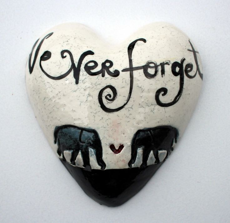 Never forget Heart by TheMonsterCompany on Etsy https://www.etsy.com/listing/204652547/never-forget-heart