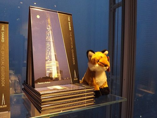 Romeo the Fox from the Shard, on display at the Shard's shop