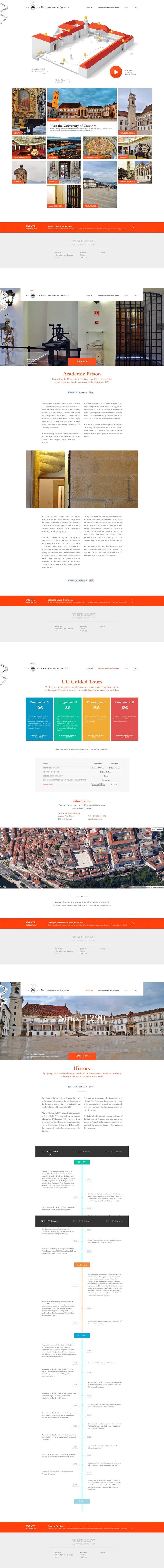 Universidad de coimbra |#webdesign #ui