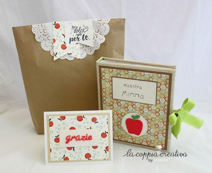 Mini album con card e packaging coordianato per le maestre (con video) da Sandra