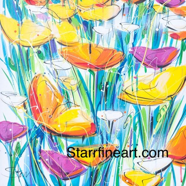 Poppies are wild by STARR. www.starrfineart.com