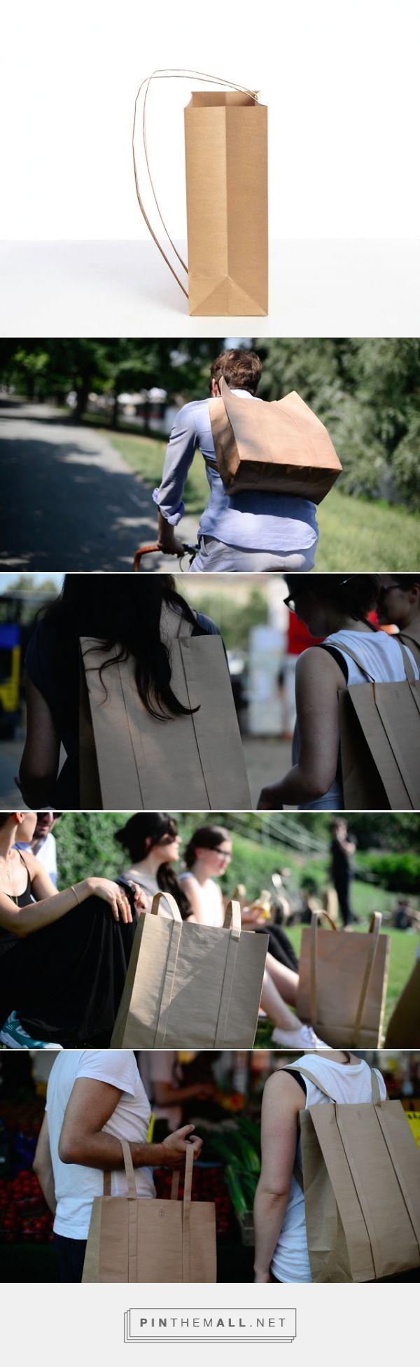 PaperJohn #Concept #paperbag #backpack #packaging designed by OGATA UG - http://www.packagingoftheworld.com/2015/07/paperjohn-concept.html