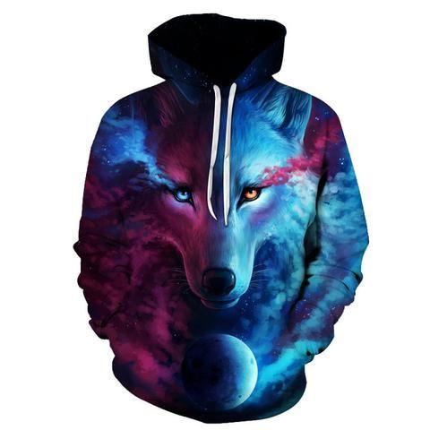 55a94faaf814e Moletom Galaxy Wolf Unisex