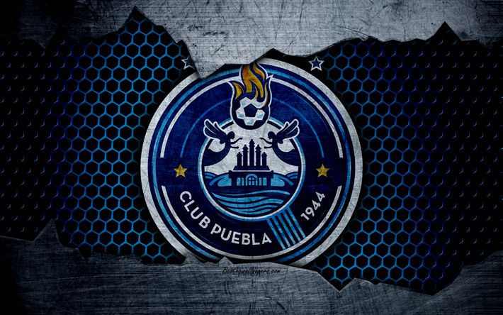 Download wallpapers Puebla, 4k, logo, Liga MX, soccer, Primera Division, football club, Mexico, grunge, metal texture, Puebla FC