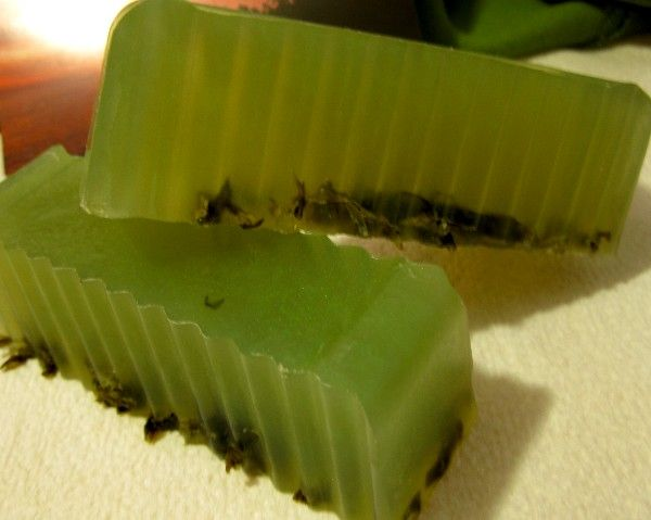 This is a melt and pour recipe, but it would be a great idea for a lye soap as well. -Tentance