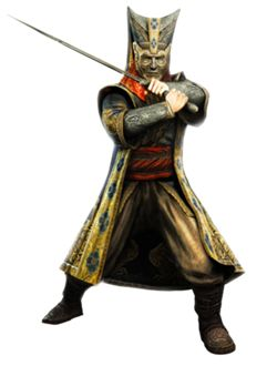 This is janissaries. They where only loyal to the king. As u can see they have a head peace with a strap on there hips. And they would where long open robe with pants and a sword.