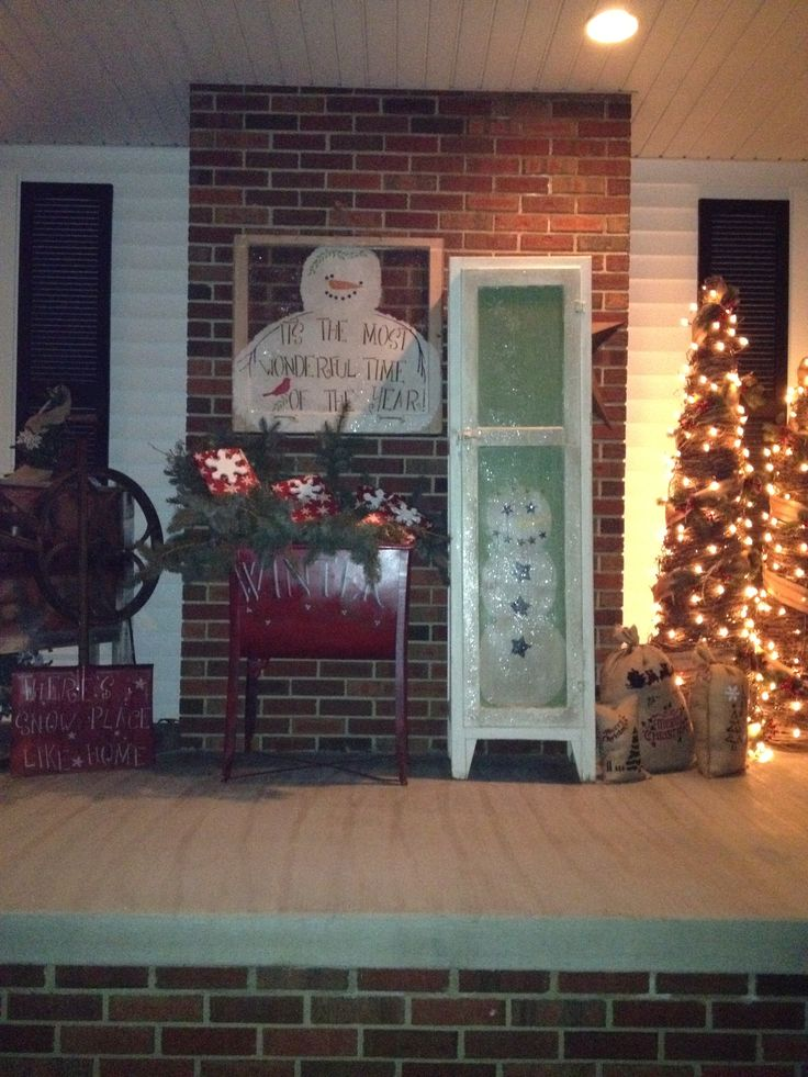 Country Christmas Porch Country Christmas Decor