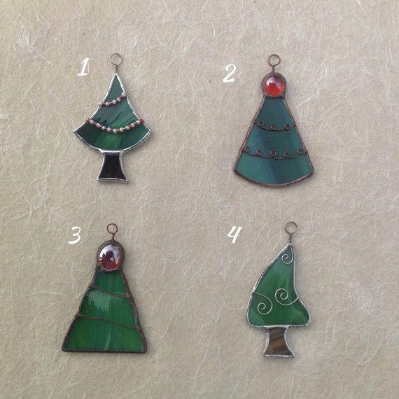 Decorazioni+natalizie+alberelli+realizzati+a+mano+in+di+CloverSbox