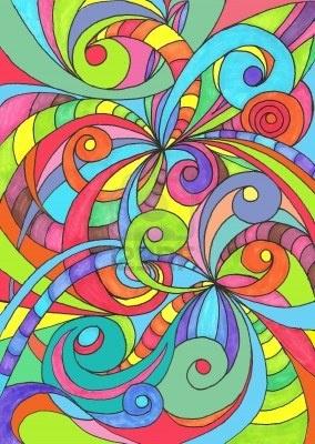 Tekening bloemen abstracte achtergrond Stockfoto