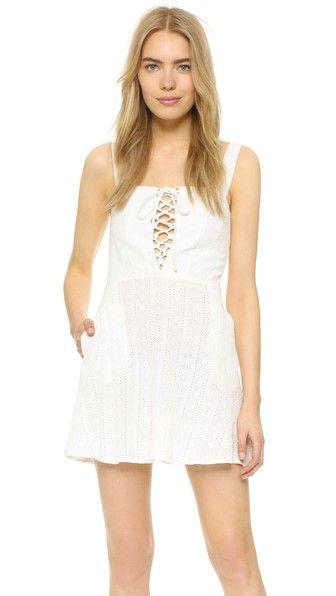 Flynn Skye Leila Lace Up Mini Dress Flynnskye Cloth