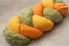 Homemade braided bread recipe - How to make tri-colored bread