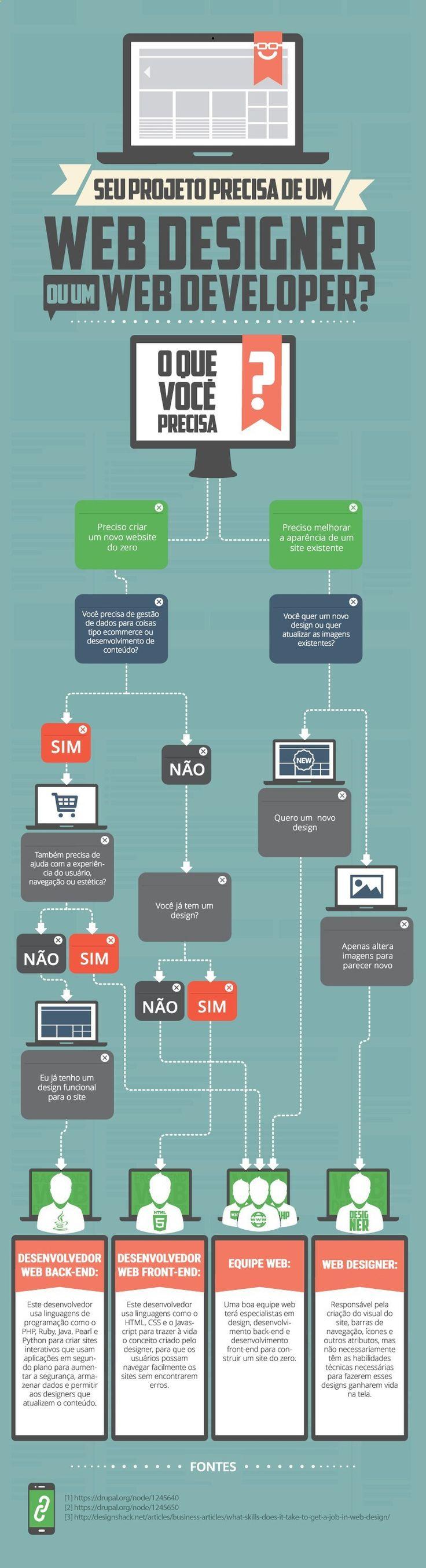 Infográfico: Web Desinger ou Desenvolvedor Web?