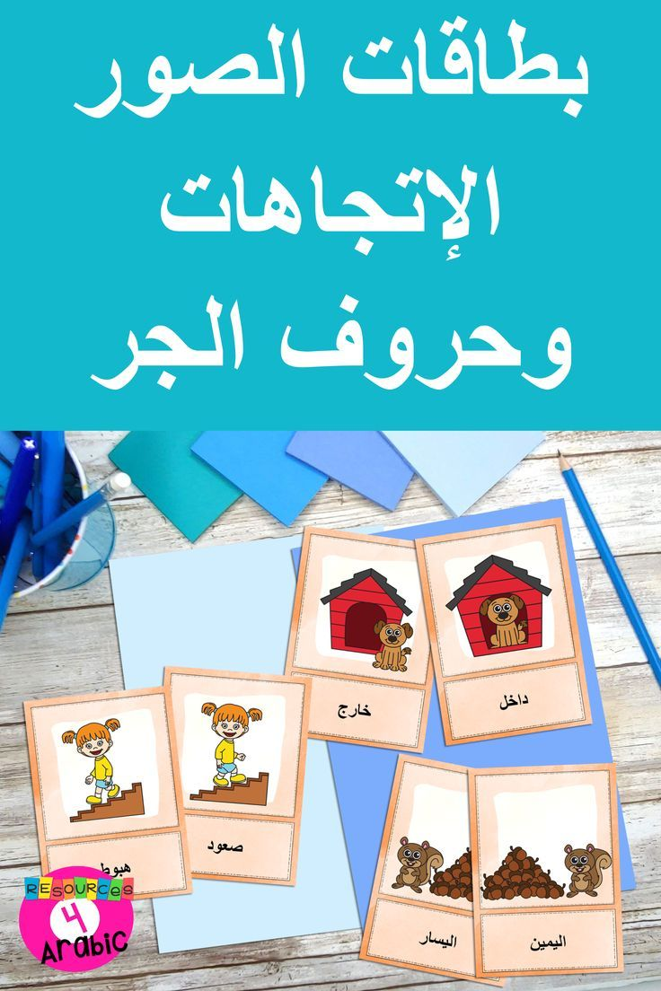 Learn Arabic With Picture Cards Arabic Prepositions Vocabulary Cards Vocabulary Picture Cards