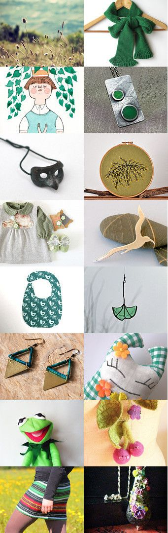 Green Christmas from PT Team by Helena Ribeiro on Etsy–Pinned with TreasuryPin….Brandless Beta